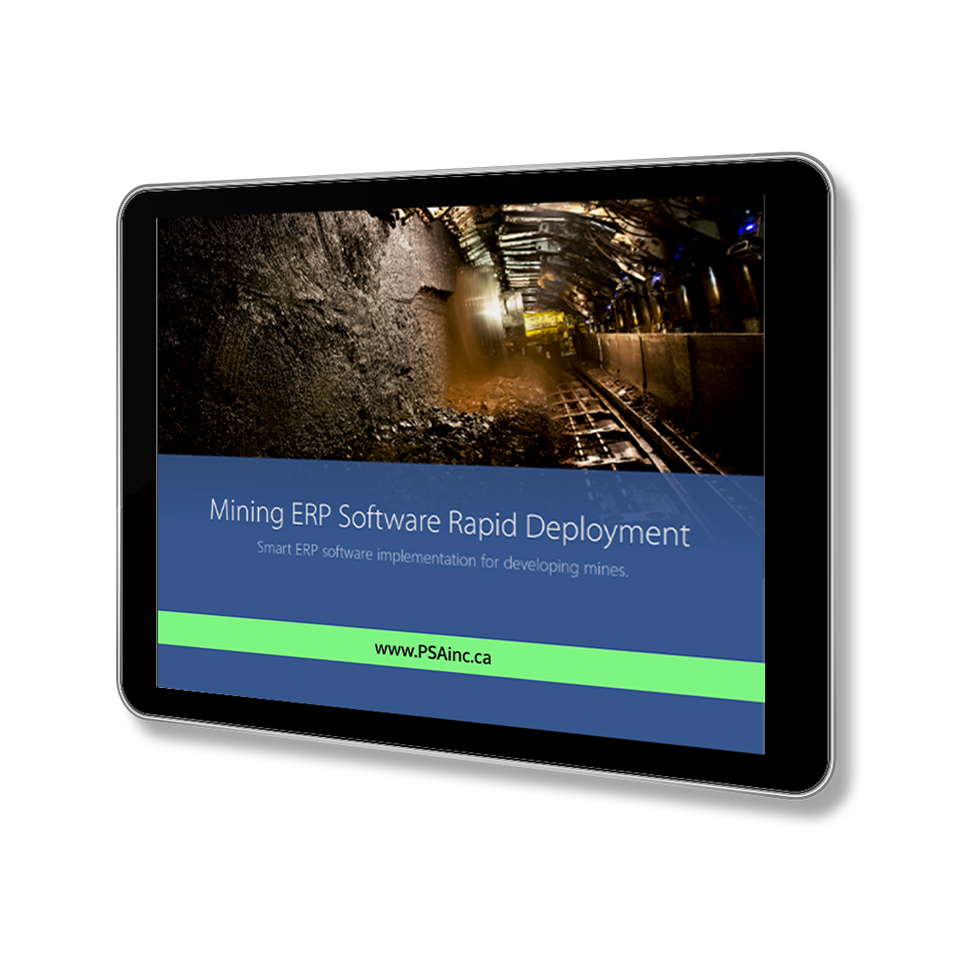 Mining ERP Software Rapid Deployment White Paper